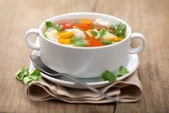 овощи супа цыпленка Стоковые Изображения