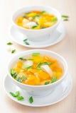 овощи супа цыпленка Стоковые Фотографии RF