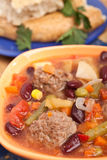 овощи супа meatball Стоковые Фотографии RF