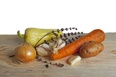 Овощи с ветвями сухого базилика Стоковые Фотографии RF
