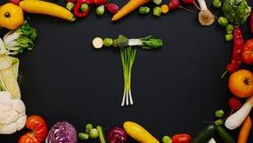 Овощи сделали письмо t Стоковые Фотографии RF