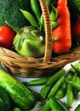 Овощи с корзиной Стоковые Изображения RF