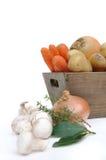 Овощи с луками и грибами Стоковые Изображения