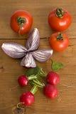 овощи таблицы деревянные Стоковое Изображение
