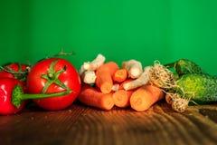 овощи таблицы деревянные Стоковые Фото