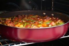 овощи тарелки курят мясом, котор Стоковое фото RF
