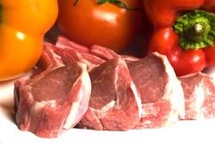 овощи томата нервюры овечки chops Стоковая Фотография