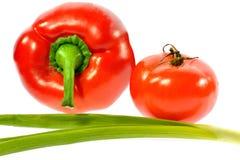 Овощи лука томата перца Стоковая Фотография