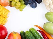 Овощи: луки, перцы, капуста, томаты, мозоль Стоковое Изображение