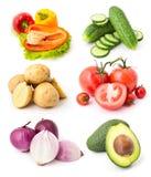 Овощи установили 7 Стоковые Изображения RF