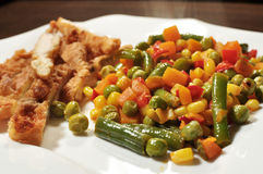 овощи цыпленка груди Стоковое фото RF