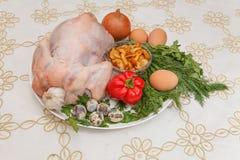 овощи цыпленка сырцовые Стоковое фото RF