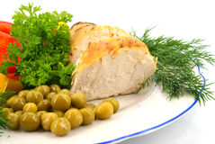 овощи цыпленка Стоковые Фото
