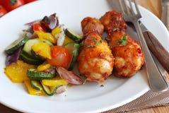 овощи цыпленка стоковые изображения