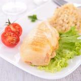 овощи цыпленка груди стоковые фотографии rf