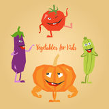 Овощи шаржа милые бесплатная иллюстрация