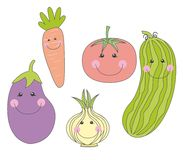 овощи шаржей милые Стоковое Изображение RF