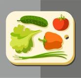 Овощи для салата, покрашенного изображения Стоковое Фото