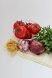 Овощи для coocking макаронных изделий Стоковое Фото