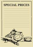 овощи 1 цены доски Стоковые Фотографии RF