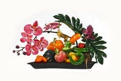 овощи ikebana стоковая фотография