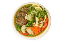 овощи rissoles мяса Стоковое Изображение RF