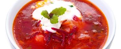 Овощной суп, красный борщ стоковые изображения