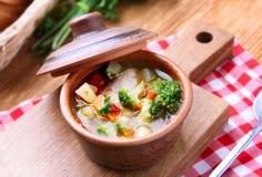 Овощной суп цыпленка Стоковое Фото