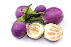 Овощ баклажана на белой предпосылке Стоковое фото RF