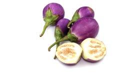 Овощ баклажана на белой предпосылке Стоковые Изображения
