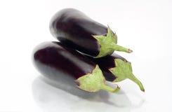 Овощ баклажана или aubergine на белизне Стоковое Фото