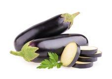 Овощ баклажана или aubergine на белой предпосылке Стоковые Изображения