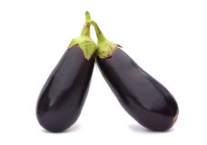 Овощ баклажана на белизне Стоковые Изображения RF