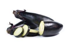 Овощ баклажана на белой предпосылке Стоковые Фотографии RF