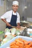 овощ вырезывания шеф-повара Стоковое Изображение