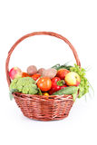 Овощ в корзине изолированной на белизне Стоковое фото RF