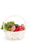 Овощ в корзине изолированной на белизне Стоковые Фотографии RF