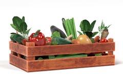Овощ в коробке Стоковое Изображение RF