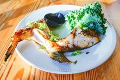 овощ зажаренный рыбами Стоковая Фотография RF
