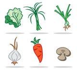 Овощ значка установил a Стоковые Фотографии RF