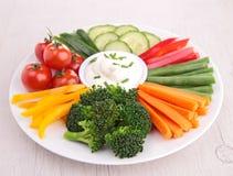 Овощ и погружение Стоковая Фотография RF
