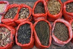 Овощ китайца высушенный в рынке Стоковая Фотография