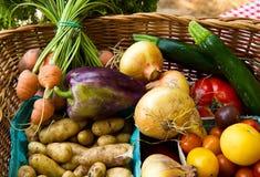 овощ корзины стоковая фотография rf