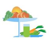 Овощ над белизной Стоковое Изображение RF