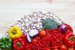 Овощ на деревянном столе Стоковое Фото