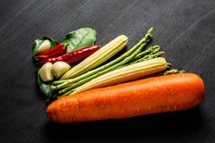 Овощ на предпосылке классн классного Стоковое Изображение