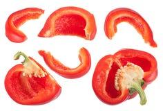Овощ перца установленный на белизну Стоковые Изображения