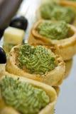 овощ печенья canapes стоковые изображения rf