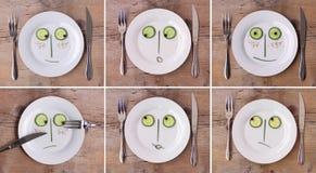 овощ плиты сторон em собрания различный Стоковое Изображение
