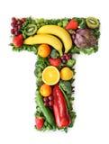 овощ плодоовощ алфавита стоковые изображения rf